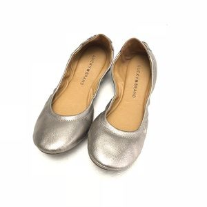 NEW Lucky Brand Echo Emmie Ballet Flats Metallic